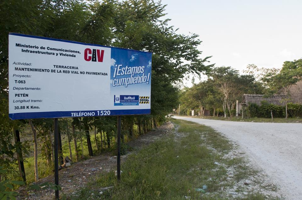 Actividad: mantenimiento de la red vial no pavimentada, según el Ministerio de Comunicaciones Infraestructura y Vivienda.
