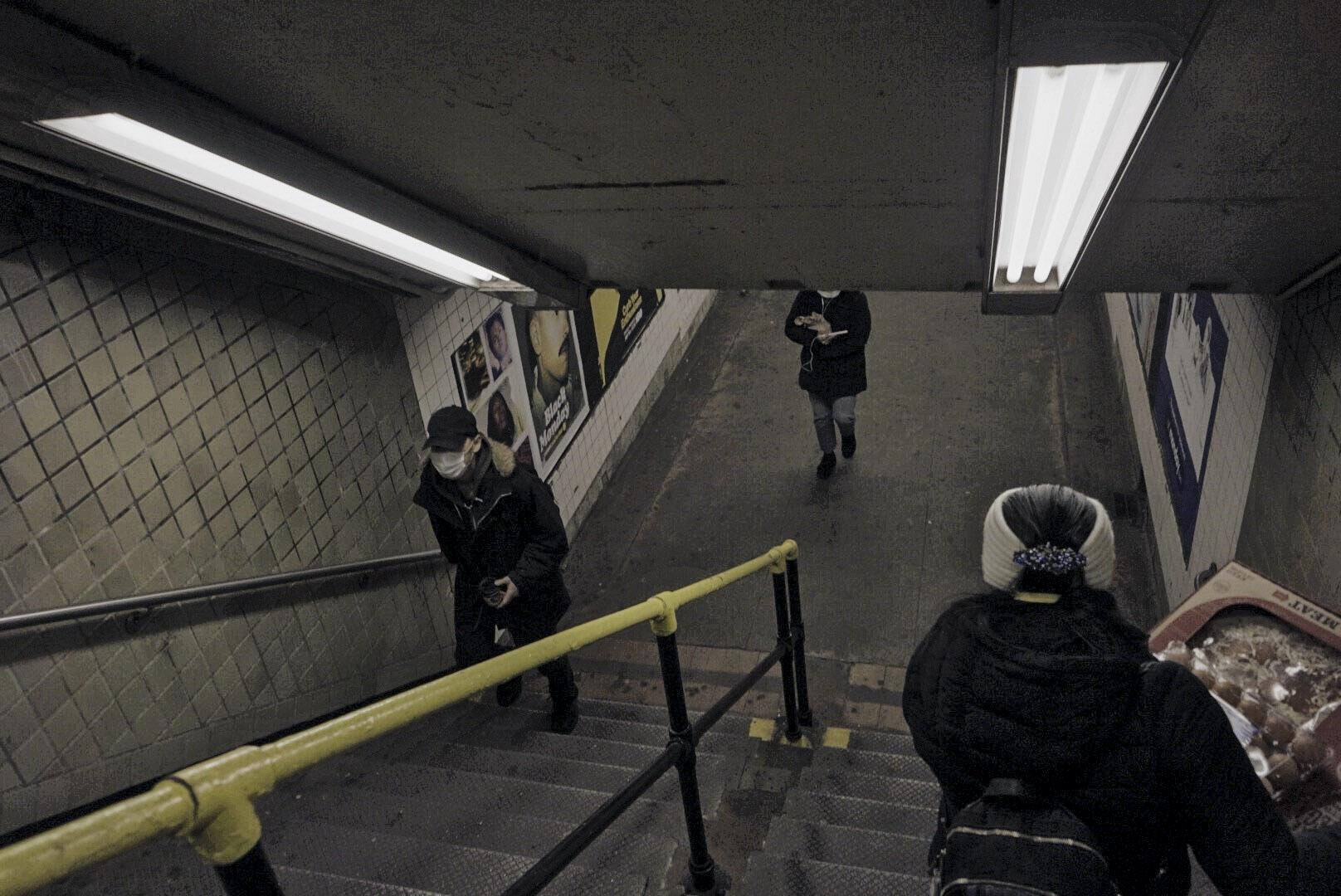 El ingreso al Subway de conexión a la línea del tren R, el 21 de marzo. Eduardo Say