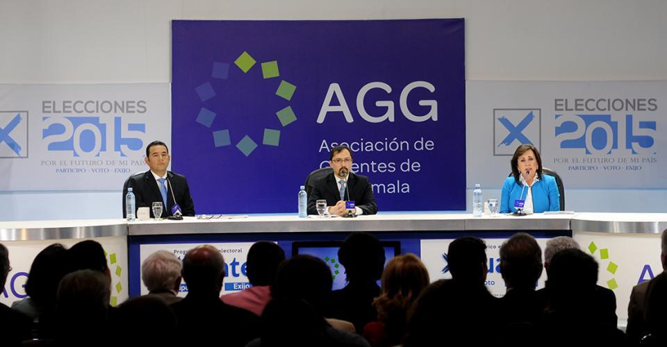 El debate presidencial organizado por la Asociación de Gerentes de Guatemala.